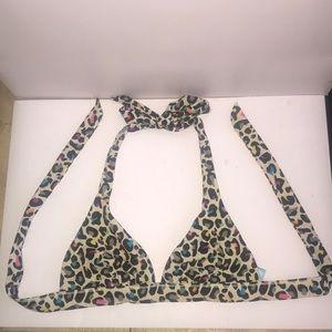 VS Pink Leopard Bikini Top